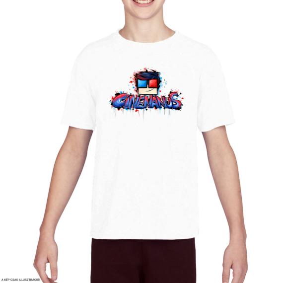 """CineManus """"logó"""" gyerek póló - S"""